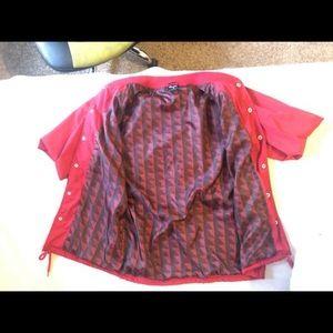 Red primitive bomber jacket